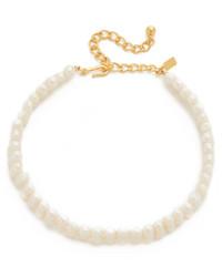 Collier de perles beige Kenneth Jay Lane