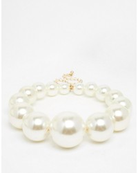 Collier de perles blanc Asos