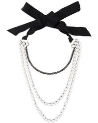 Collier de perles blanc Lanvin