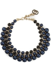 Collier de perles bleu marine Gucci