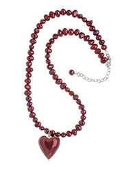 Collier de perles bordeaux Amanti Venezia