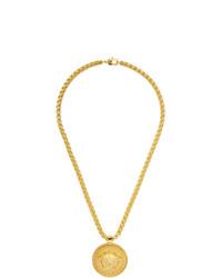 Collier doré Versace