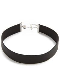Collier en cuir noir Jennifer Zeuner Jewelry