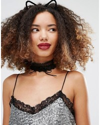 Collier noir Missguided