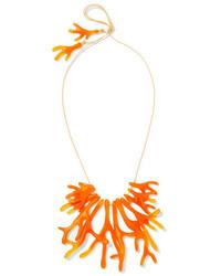 Collier orange Dinosaur Designs