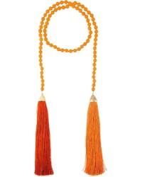 Collier orange Rosantica