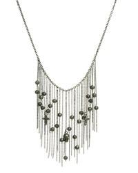 Collier orné de perles argenté Religion