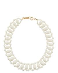 Collier orné de perles blanc Isabel Marant