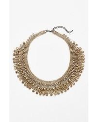 Collier orné de perles doré
