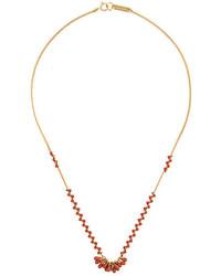 Collier orné de perles doré Isabel Marant