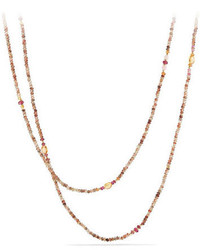 Collier orné de perles jaune