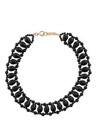 Collier orné de perles noir Isabel Marant