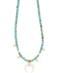 Collier orné de perles turquoise Jacquie Aiche