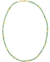 Collier orné de perles vert