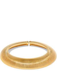 Collier ras de cou doré Saint Laurent
