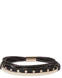Collier ras de cou en cuir noir Givenchy
