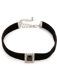 Collier ras de cou en velours noir Kenneth Jay Lane