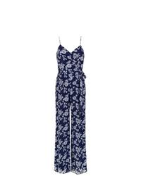 Combinaison pantalon à fleurs bleu marine MICHAEL Michael Kors