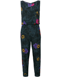 Combinaison pantalon à fleurs gris foncé Diesel