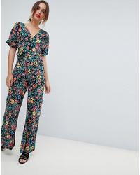 Combinaison pantalon à fleurs multicolore Mango