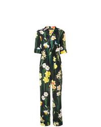 Combinaison pantalon à fleurs noire Dolce & Gabbana