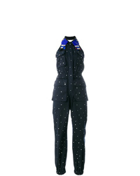 Combinaison pantalon á pois bleu marine Miu Miu