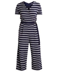Combinaison pantalon à rayures verticales bleue marine Tommy Hilfiger