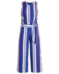 Combinaison pantalon à rayures verticales bleue Tommy Hilfiger