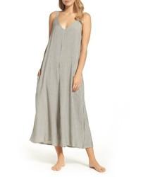 Combinaison pantalon à rayures verticales grise
