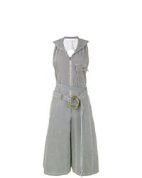 Combinaison pantalon à rayures verticales grise Chloé