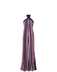 Combinaison pantalon à rayures verticales multicolore