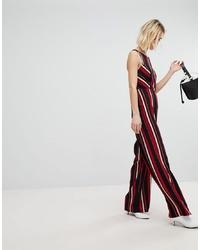 Combinaison pantalon à rayures verticales multicolore New Look