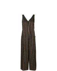 Combinaison pantalon à rayures verticales noire Golden Goose Deluxe Brand