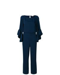 Combinaison pantalon à volants bleu marine P.A.R.O.S.H.
