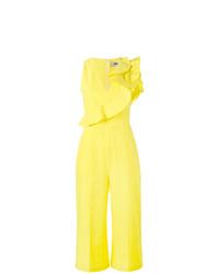 Combinaison pantalon à volants jaune MSGM
