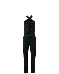Combinaison pantalon à volants noire Givenchy