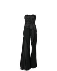 Combinaison pantalon à volants noire Moschino