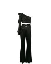Combinaison pantalon à volants noire Philipp Plein