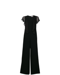 Combinaison pantalon à volants noire See by Chloe