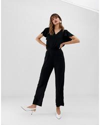 Combinaison pantalon à volants noire Vero Moda
