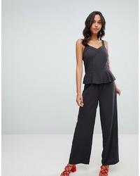 Combinaison pantalon à volants noire Vila