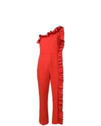 Combinaison pantalon à volants rouge MSGM