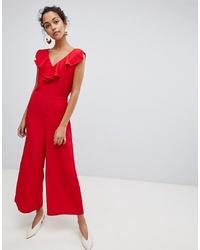 Combinaison pantalon à volants rouge Vila