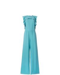 Combinaison pantalon à volants turquoise RED Valentino
