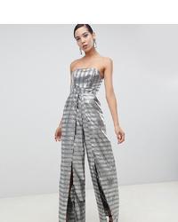 Combinaison pantalon argentée Asos Tall