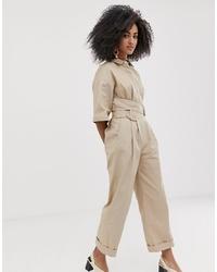 Combinaison pantalon beige ASOS WHITE