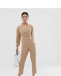 Combinaison pantalon beige Fashion Union Petite