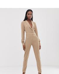 Combinaison pantalon beige Fashion Union Tall