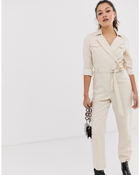 Combinaison pantalon beige Miss Selfridge