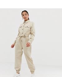 Combinaison pantalon beige Missguided Petite
